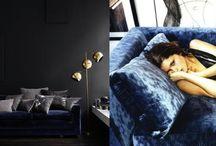Blue Bedroom Moodboard