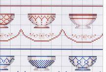 haft   filiżanki