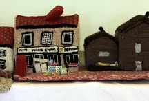 knitted houses
