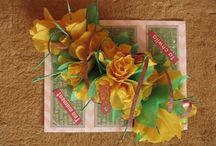 Żółte róże / Karta ślubna z różami