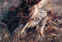 """Femme fatale / """"Leggendo il libro di Giuditta invidiavo il feroce eroe Oloferne per via della donna regale che lo decapitò con una spada, gli invidiavo quella bella fine sanguinaria."""" (Leopold von Sacher-Masoch, Venere in pelliccia, 1870)"""