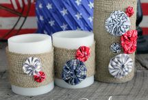 Patriotic Crafts / Get in the red, white, and blue spirit with any of our patriotic craft ideas! There are lots of great ideas for 4th of July crafts, Fourth of July decorations, and other patriotic decor here. / by ConsumerCrafts.com