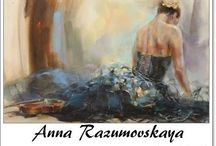 ⊱ Anna Razumovskaya⊰ / ≻ Anna Razumovskaya ~ Russian Figurative painter ≺  Anna Razumovskaya graduated from Russian State University for Arts in 1991. From 1992 to 1995 Anna studied in Germany, Belgium and Holland. Her personal exhibitions in St. Paul (Minnesota), Toronto, Amsterdam, Antwerp and Berlin. She works in many techniques, such as watercolor, oil, acrylic, silk and genres.