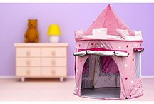 KiddyPlay Deluxe Pink Pop-Up Castle Play Tent #KiddyPlay