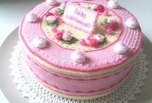 horgolt torták