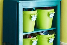Kids Storage Solutions / DIY storage ideas for playrooms and kids bedrooms of all ages.