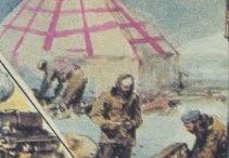 La Tenda Rossa / Immagini e raffigurazioni della Tenda Rossa, progettata dall'ing. Felice Trojani e costruita dalla Ditta Moretti di Milano. La tenda ospitò i superstiti del disastro del Dirigibile Italia per 48 giorni sino al recupero da parte di Lundborg (Nobile) e del rompighiaccio Krassin (tutti gli altri, escluso Malmgren).