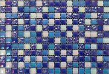 Glass Mosaic Bathroom & Kitchen Tiles / Glass mosaic for the bathroom and kitchen wall areas.