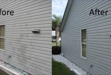 Before and After Vinyl Siding Pictures by Homeowners / A small collection of real world vinyl siding images and comments from U.S. homeowners who used Vinyl Renu on their siding and renewed it.