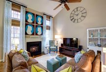 Interior Design Cary NC - Living Room - Private Residence / Interior design, Living Room, furnishings, art, custom window treatments, accessories