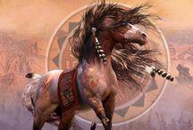 Indianer Pferde