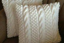 pletení- polštáře