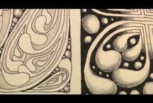 Zendoodles Art Board / Collections of some great instructional tangles created by various artists - so i can practise and hopefully create my own masterpieces..