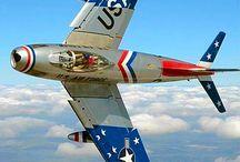 Vintage jetfighters