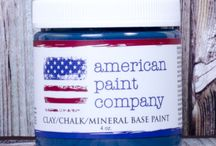 Born on the 4th of July / Projects, inspiration all using Born on the 4th of July chalk/mineral/clay based paint by us - American Paint Company.