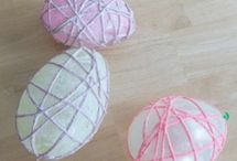 Easter yarn craft for kids