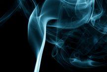 Smoke plume of flame