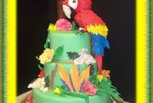 parrot cakes