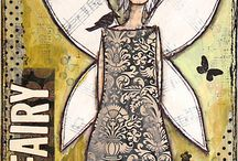 Art Journalling - girl ideas
