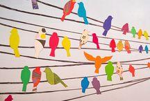 Vögel / Papier