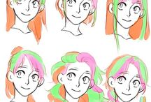 Hiusten piirtäminen
