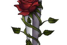 Cruz com rosas
