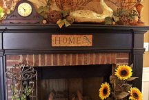Mantels & Cupboard tops !