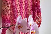 Šátky - shawls / Knitted shawls