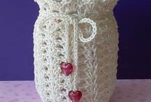 crochet mason jar covers