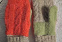 Re-sweater mittens