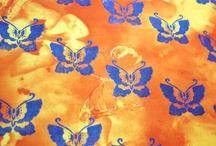 Wood block fabric printing / by Colouricious Creatives