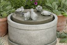 Cast Stone Fountains at Birdsall Boutique / Birdsall & Co. The Garden Boutique Fountains