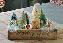 """Seasons - Christmas / My favorite time of year for decorating....I love the glittery, little touches of Winter because they can """"stay out"""" way past Christmas Day."""