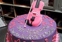 Violin cakes.