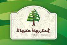 Logo Meza Beirut / Warszawska restauracja libańska.
