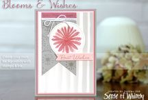 Blooms and Wishes / Projects created by Cheryll using the Blooms and Wishes stamp set by Stampin' Up!® See more detail on any of the projects by visiting the web site www.senseofwhimsy.com.au.
