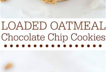 Choc oatmeal chip cookies