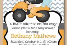 Baby shower moto