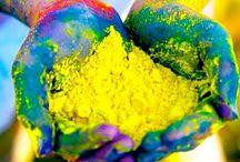 Party Ideas - Holi Colors / Holi Festival of Color. Indian festival Hindi hindu. Festival of color Holi ideas and party ideas, decorations and color ideas. Color run ideas. Holi food and snacks.