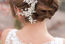 Inspiração: noivas e acessórios de cabelo