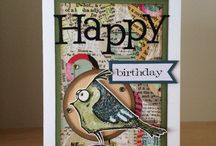 Crazy birds Tim Holtz and some cats