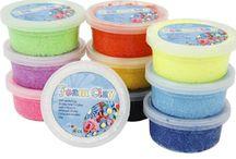 Foam Clay Crea Kinderfeest / Foam Clay: ideaal voor een knutselfeestje thuis!  Een veelzijdige zelfhardende clay in vele verschillende kleuren! Kids Love it!