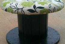 recyclage touret en bois