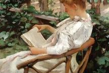 책 / 책과 독서하는 모습