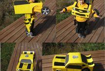 Bumblebee costume kid diy