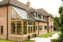 Venables Oak Project: Meadowcroft / Venables Oak window frames and oak framed conservatory.