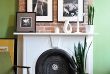 Mantle and Bookcase Styling