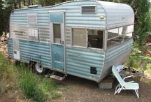 Kenskill Trailers // Travel / Fixing up old canned ham trailers is a labor of love and work in progress. Take a look at these vintage Kenskill trailers from days gone by