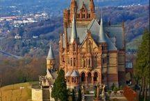 Zamki ( Castles) (Schloss) (Palace) (Town Hall) (Manor House) / by Elżbieta Podlisiecka -Drozdzok