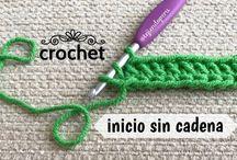 como comenzar un tejido a crochet sin cadeneta